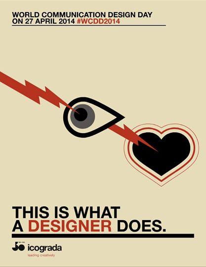 Eduardo Barrera Arambarri, plakát ke Světovému dni komunikačního designu 2014