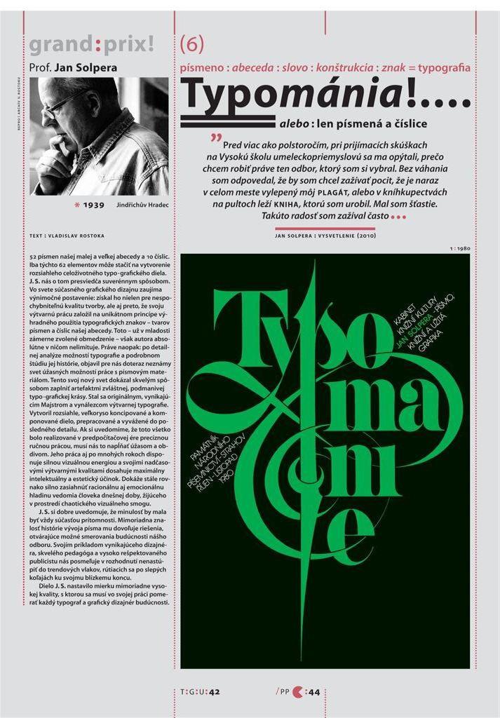 O Janu Solperovi v Typo:Grafik:UM, č. 6/2014