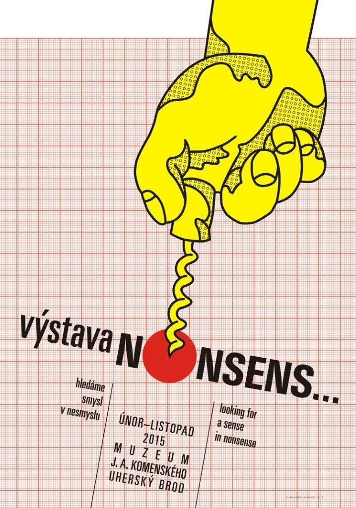 František Borovec: návrh plakátu pro výstavu NONSENS..., 2014