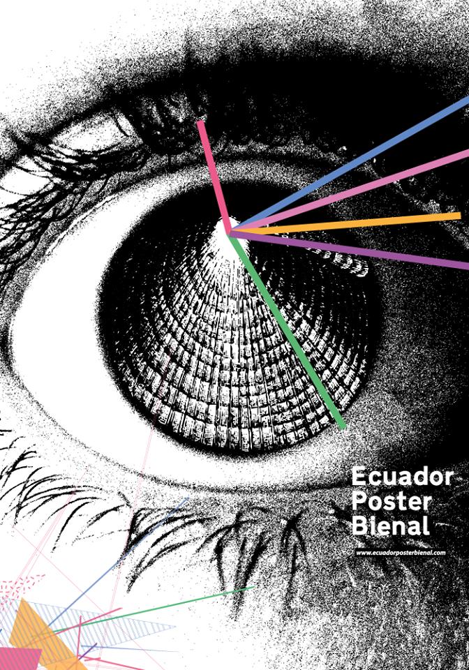 Oficiální plakát ekvádorského bienále navrhl Mario Fuentes