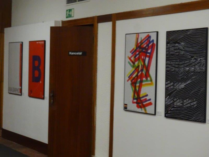 Záběry z instalace výstavy